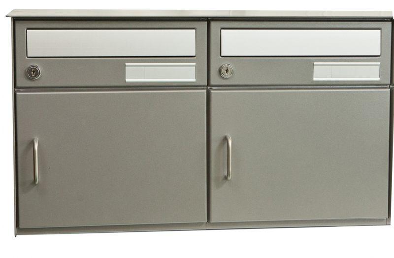 2er briefkastenanlage saturn freistehend zeitlos in weissaluminium. Black Bedroom Furniture Sets. Home Design Ideas