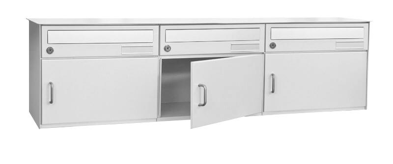 3er briefkasten jupiter zum einbau in mauer ral 9016 schweizer norm. Black Bedroom Furniture Sets. Home Design Ideas