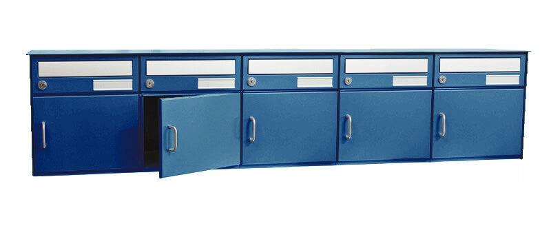 freistehende 5er briefkastenanlage saturn in blau nach. Black Bedroom Furniture Sets. Home Design Ideas