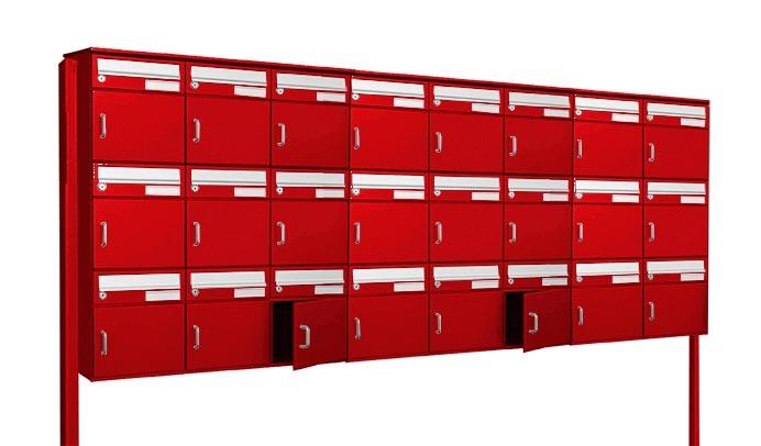 24er Briefkastenanlage für die freistehende Montage mit ...