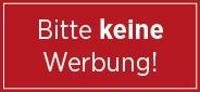 Briefkasten Aufkleber rot - Bitte keine Werbung- für postkonforme Briefkästen