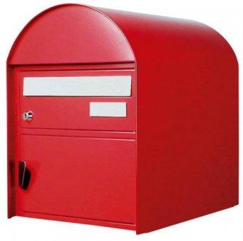 Briefkasten Arosa rubinrot Freistehend / Sockelmontage von Huber