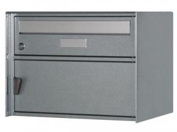 briefkasten z rich farbe weissalu ral 9006 freistehend. Black Bedroom Furniture Sets. Home Design Ideas