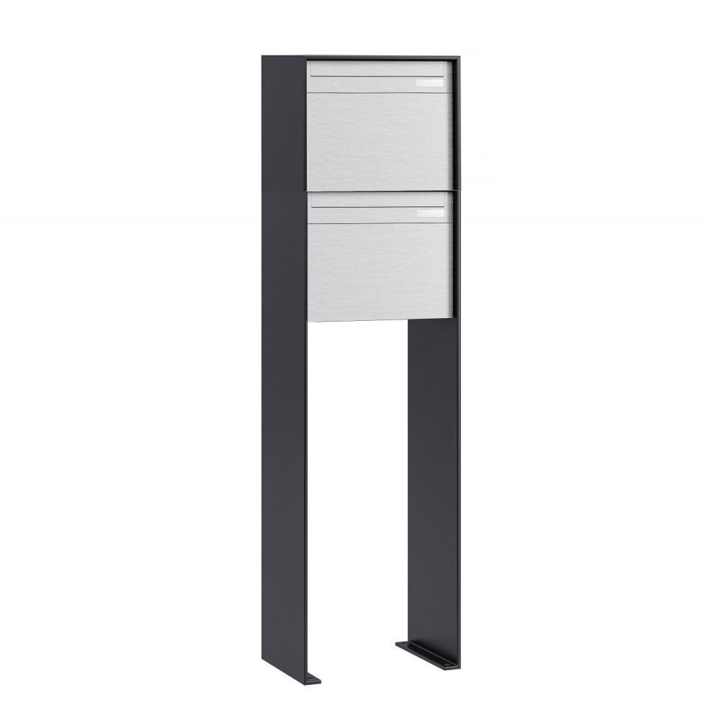2er stebler briefkastenanlage freistehende montage nach schweizer norm. Black Bedroom Furniture Sets. Home Design Ideas