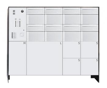 s easy 8er Briefkastenanlage mit 6 Paketboxen, freistehende Montage