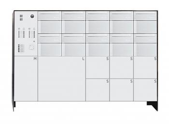 s easy 10er Briefkastenanlage mit 8 Paketboxen, freistehende Montage