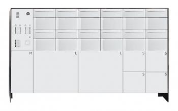 s easy 12er Briefkastenanlage mit 7 Paketboxen, freistehende Montage