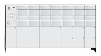s easy 14er Briefkastenanlage mit 9 Paketboxen, freistehende Montage