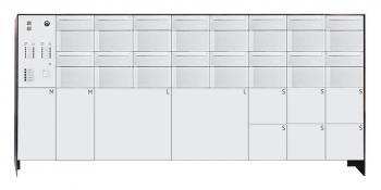 s easy 16er Briefkastenanlage mit 10 Paketboxen, freistehende Montage