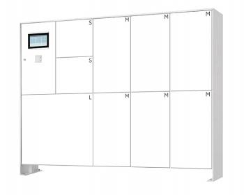 s easy Touch 9er Paketboxanlage, freistehende Montage