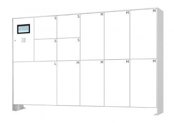 s easy Touch 12er Paketboxanlage, freistehende Montage