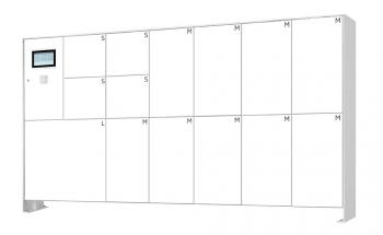 s easy Touch 14er Paketboxanlage, freistehende Montage