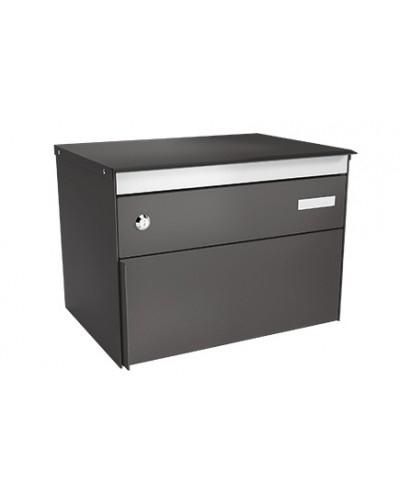 stebler briefkasten s box 13 patina anthrazit glimmer freistehend. Black Bedroom Furniture Sets. Home Design Ideas