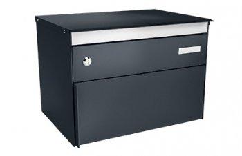 Stebler Briefkasten s:box 13 Q, RAL 7016 Anthrazitgrau Freistehend / Sockelmontage