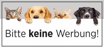 Briefkasten Aufkleber Hund + Katze - Bitte keine Werbung