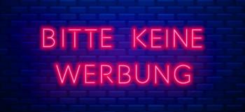 Briefkasten Aufkleber Neon - Bitte keine Werbung