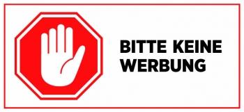 Briefkasten Aufkleber Stopschild Hand - Bitte keine Werbung