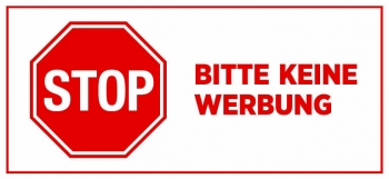 Briefkasten Aufkleber Stopschild - Bitte keine Werbung