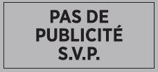 Briefkasten Aufkleber PAS DE PUBLICITE S.V.P. / transparent