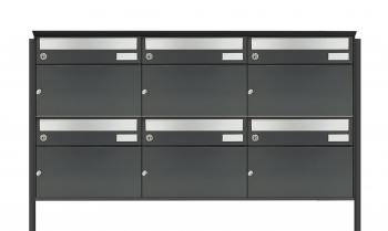 6er Briefkastenanlage Flexibox Q freistehende Montage