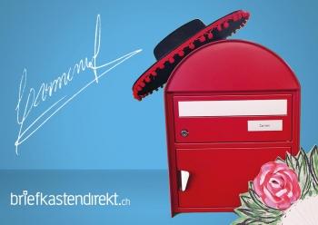 Briefkasten Carmen, rubinrot