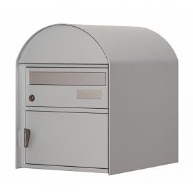 Briefkasten Ascona weissaluminium Freistehend / Sockelmontage von Huber