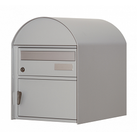 Briefkasten Ascona weissaluminium Wandmontage von Huber