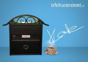 Briefkasten Kate, Rustico schwarz