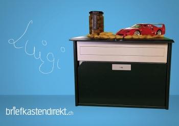 Briefkasten Luigi - Alu400 dunkelgrün metallic