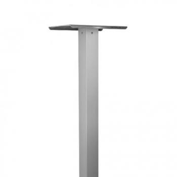 Aluminiumstütze eloxiert eckig 114 cm, 65x65 mm von Huber