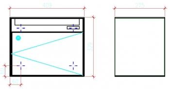 Stebler Briefkasten 99b Q, RAL 9006 Weissaluminium Wandmontage