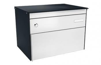 Stebler Briefkasten s:box 13 Q, Anthrazitgrau Freistehend / Sockelmontage