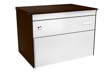 Stebler Briefkasten s:box 13 Q, RAL 8017 Schokoladenbraun Freistehend / Sockelmontage
