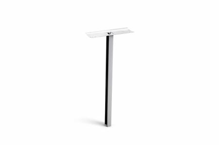 Stebler Einzelstütze für Querformat zum Einbetonieren, Aluminium