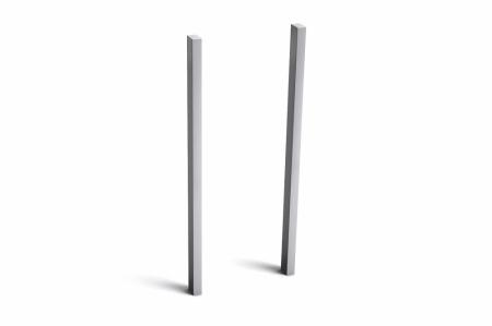 Stebler seitliches Stützenpaar für s:box 13 Briefkasten, Querformat zum Einbetonieren, Aluminium