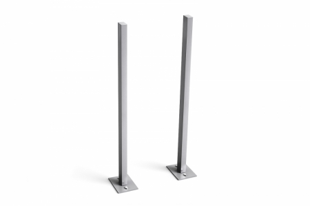 Stebler Stützen für s:box 17 Briefkasten mit Fussplatten, Aluminium