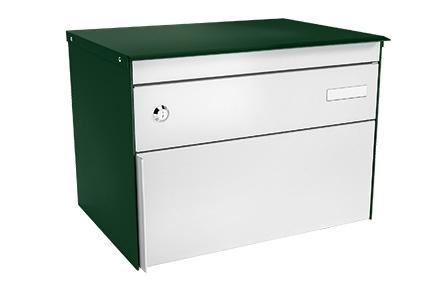 Stebler Briefkasten s:box 13 Q, RAL 6005 Moosgrün Freistehend / Sockelmontage