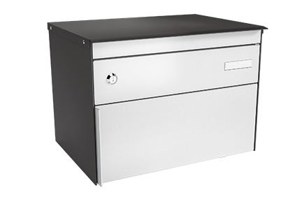 Stebler Briefkasten s:box 13 Q, Patina Anthrazit Glimmer, Freistehend / Sockelmontage