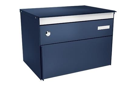 Stebler Briefkasten s:box 13 Q, RAL 5003 Saphirblau Freistehend / Sockelmontage