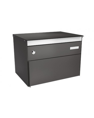 Stebler Briefkasten s:box 13 Q, Patina Anthrazit Glimmer Freistehend / Sockelmontage