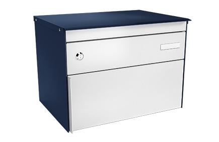 Stebler Briefkasten s:box 13 Q, RAL 5003 Saphirblau Wandmontage