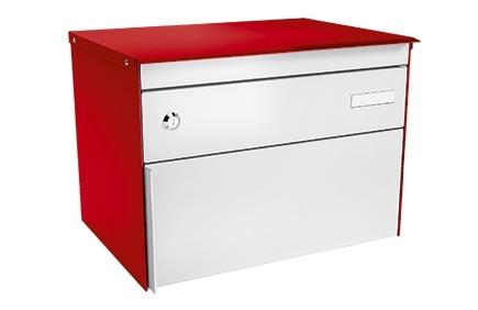 Stebler Briefkasten s:box 13 Q, RAL 3000 Feuerrot Wandmontage