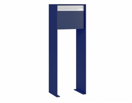 Stebler Briefkasten 99b Z8 VR Q, RAL 5003 Saphirblau half Freistehend