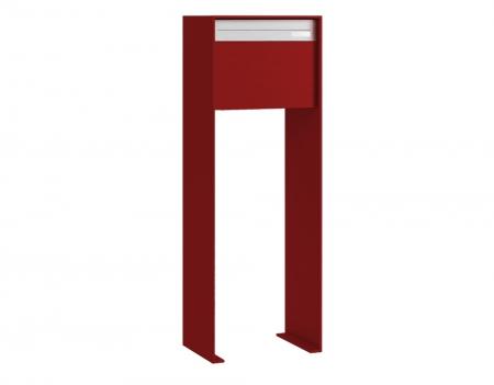 Stebler Briefkasten 99b Z8 VR Q, RAL 3004 Purpurrot half Freistehend
