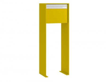 Stebler Briefkasten 99b Z8 VR Q, RAL 1004 Goldgelb half Freistehend