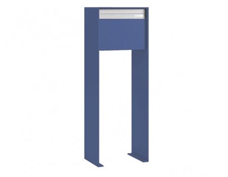 Stebler Briefkasten 99b Z8 VR Q, RAL 5014 Taubenblau half Freistehend