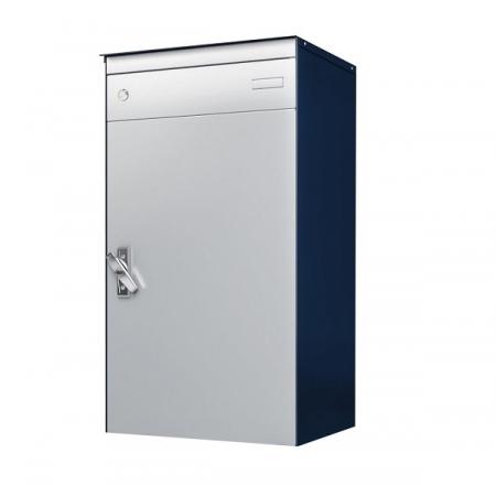 Stebler s:box 17 Briefkasten mit gesichertem Paketschliessfach als Bausatz, RAL 5003 Saphirblau, Wandmontage