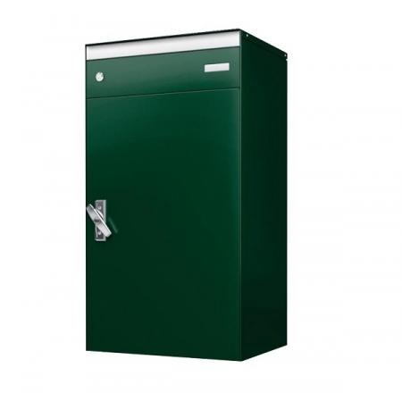 Stebler s:box 17 Briefkasten mit gesichertem Paketschliessfach, RAL 6005 Moosgrün, Wandmontage