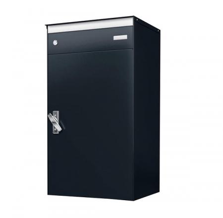 Stebler s:box 17 Briefkasten mit gesichertem Paketschliessfach, RAL 5003 Saphirblau, Wandmontage