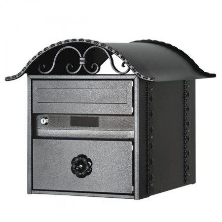 Briefkasten Rustico schwarz Freistehend von Huber